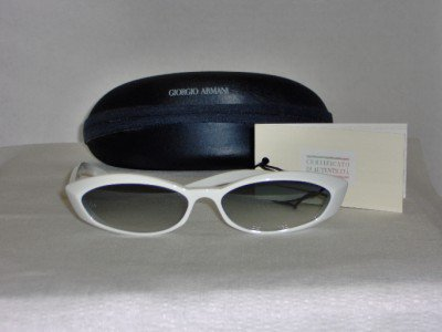 B. New Giorgio Armani White Sunglasses: Mod. 89 & Case