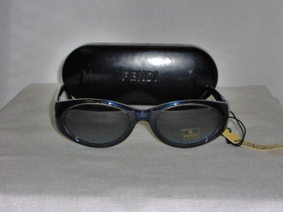 B. New Fendi Shiny Blue Sunglasses: Mod. Sun 216 & Case