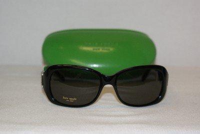 Brand New Kate Spade Shiny Black Sunglasses: Mod. Party & Case