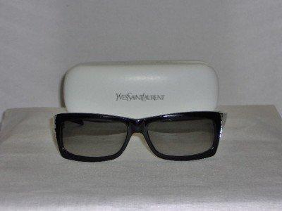 Brand New Yves Saint Laurent Black Sunglasses: Mod. 6058 & Case