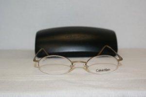 Brand New Calvin Klein Gold Eyeglasses: Mod. 343 (525) 47-20 & Case