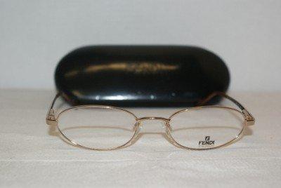 Brand New Fendi Gep (Gold) Eyeglasses: Mod. 551 & Case