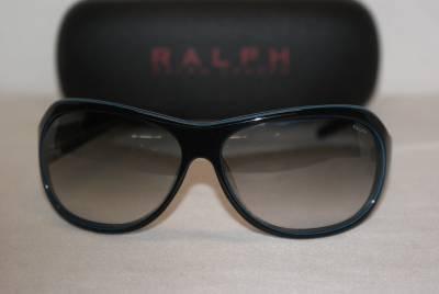 New Ralph Lauren Sunglass Mod. 7570 Col.Black/Blue (0TW1) 63-13-120 & Case
