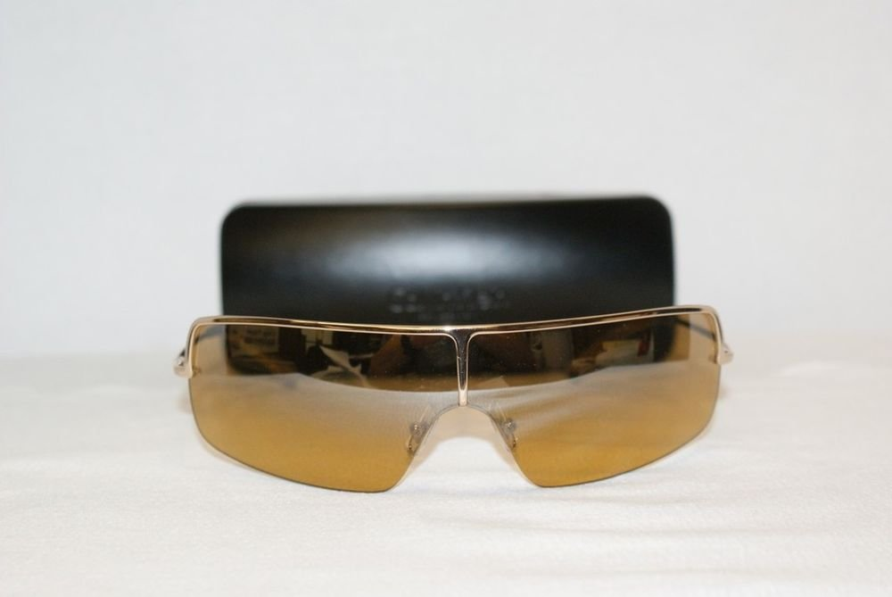 Brand New Calvin Klein 296 Gold Sunglasses: Mod. 296 & Case