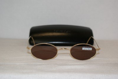 Brand New Calvin Klein Gold C5 Sunglasses: Mod. C5 & Case