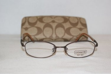 Brand New Coach Corey Dark Brown 48-16 Eyeglasses: Mod. Corey & Case