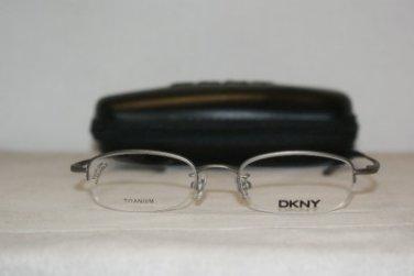 Brand New DKNY 6614 Grey Titanium 47-19 Eyeglasses: Mod. 6614 (043) 47-19 & Case