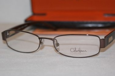 Brand New Cole Haan Eyeglass Mod. CH 944 Col. Brown 52-17-130 & Case