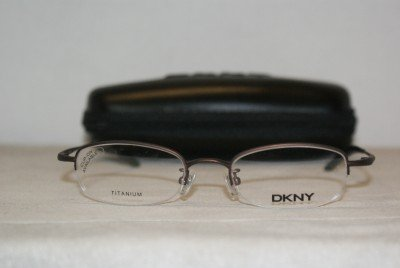 Brand New DKNY 6614 Brown Titanium 47-19 Eyeglasses: Mod. 6614 (028) & Case
