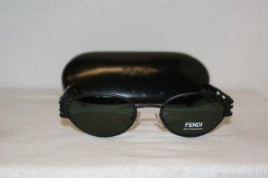 Brand New Fendi 176 Satin Ebony Sunglasses: Mod. 176 & Case