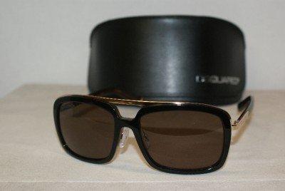 Brand New DSquared2 0026 Black & Gold Sunglasses: Mod. DQ0026 (05J) 56-16 & Case