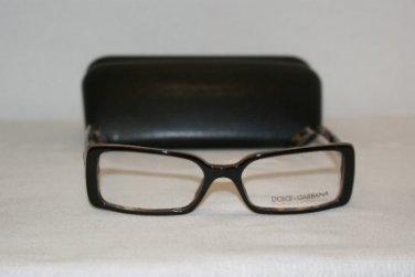 Brand New Dolce & Gabbana 3054 Brown 52-16 Eyeglasses: Mod. 3054 & Case