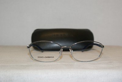 New Dolce & Gabbana 1206 Silver & Blue 56-17 Eyeglasses: Mod. 1206 (477) & Case