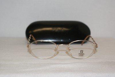 New Fendi 64 Champagne 51-18 Eyeglasses: Mod. F64 51-18 & Case