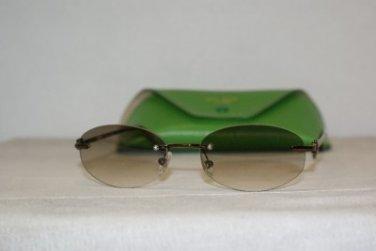 New Kate Spade Marisa Shiny Brown Sunglasses: Mod. Marisa (0W00) 52-18 & Case