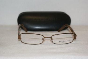 New Ralph Lauren Brown Eyeglasses: Mod 1497 (65Y) 50-16 &Case