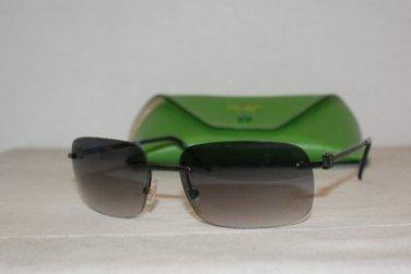 New Kate Spade Winnie Shiny Gunmetal Sunglasses: Mod. Winnie (01C7) 55-16 & Case