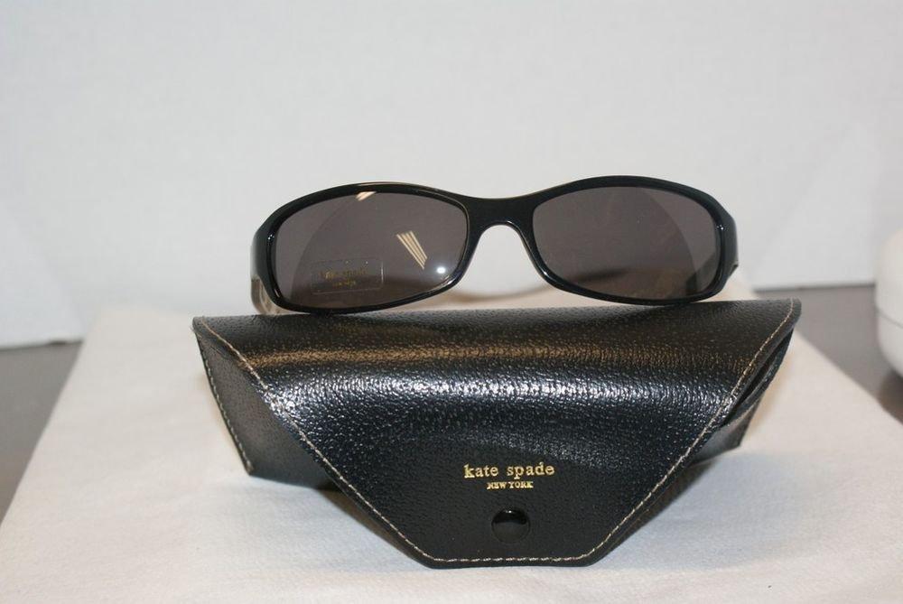 Brand New Kate Spade Scarlet Black Sunglasses: Mod. Scarlet 61-17 & Case