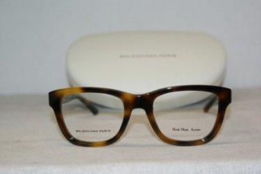 Brand New Balenciaga 0119 Havana 05L Eyeglasses: Mod. 0119 (05L) 50-21 & Case