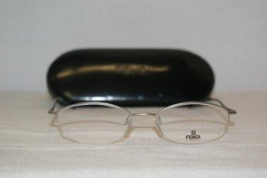 Brand New Fendi 552 Palladium 49-18 Eyeglasses: Mod. 552 & Authentic Case