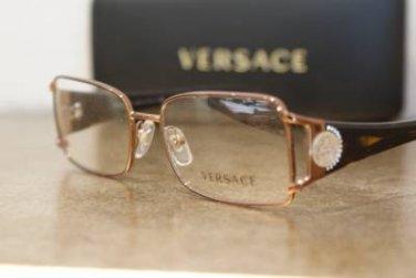 Brand New VERSACE Eyeglass Mod. 1142-B Col.1045 51-16-135 & Case W/STONES!!!