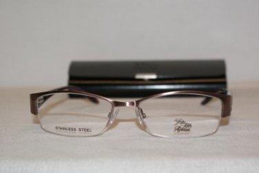 New Saks Fifth Avenue 232 Brushed Ruby (DX9) Eyeglasses: Mod. 232 51-17 & Case