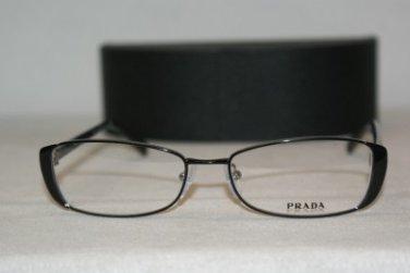 New Prada 58O Shiny Black 53-16 Eyeglasses: Mod. VPR 58O (FAR-1O1) & Case
