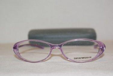New Emporio Armani EA9099 Purple XR7 Eyeglasses: Mod. EA 9099 49-14 & Case