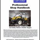 Cub Cadet Utility Vehicle w/Kohler Engine Professional Shop Service Manual