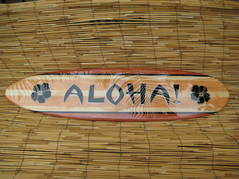 Decorative surfboard wall art choice image home wall decoration 3ft decorative hawaiian aloha surfboard wall art by tiki soul amipublicfo choice image amipublicfo Images