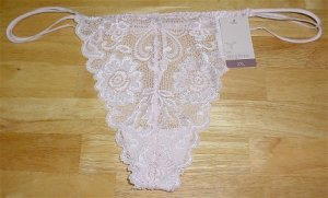 Lot of 6 Gilligan & O'Malley Pink, Mink & Brown Lace String Thong Panties #127652 ~ 2XL Plus Size