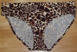 Liz Lange Maternity Brown Leopard Animal Print Bikini Swimsuit Bathing Suit Bottom #134175 ~ XXL 20