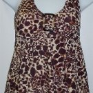 Liz Lange Maternity Animal Leopard Print Tankini Swimsuit Bathing Suit Top #134175 ~ S/Small 4-6