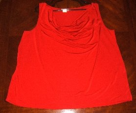No sleeves red stretchy sweather - so comfortable - 3X