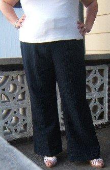 Elegant dark blue pants - Size 24