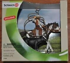 Schleich Gift Set #41340 Wild West Cowboy & Horse calf - Western Team Roping Exclusive