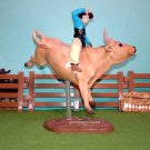 "CollectiBulls #5359 - Cowboy & ""Jumpstart"" Breyer PBR Bull Riding Figure Set"