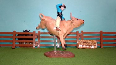 "CollectiBulls #5359 - Cowboy & ""Jumpstart"" Breyer PBR Bull Riding Figure Set"