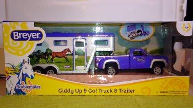 "Breyer Stablemates Pick-up Truck & Trailer ""Giddy Up & Go!"" #701736"
