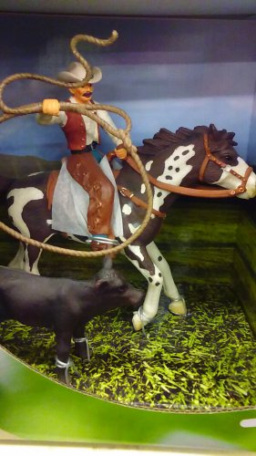 On Sale! Schleich Western Horse & Rider #41340 Cowboy Paint Calf Exclusive Play Set