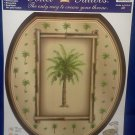 Toilet Tattoo Round Palm Tree Tropical Island BAHAMA BREEZE Bamboo Bathroom Decor