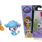 NIP Littlest Pet Shop Pia Pudley Pabla Pudley 3853 3854 Poodle Mommy Baby LPS