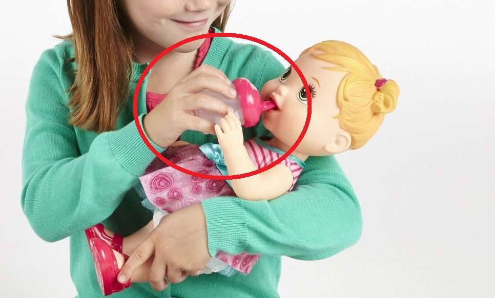 *NEW* Hasbro Bottle Sippy Cup for My Baby Alive Drink N Wet Baby Doll Juice Water Bottle Girls Toy