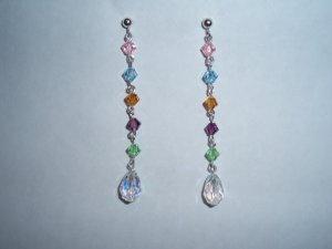 Rainbow crystal earrings