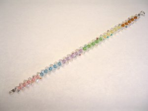 Swarovski woven rainbow bracelet