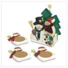 Wood Snowman Coasters - 6 pc