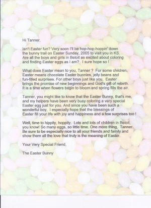 Letter From The Easter Bunny