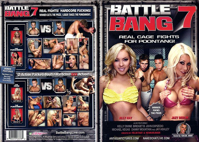 BATTLE BANG 7 (DVD XXX) ANTIGUA REAL CAGE FIGHTS FOR POONTANG ALLY KAY