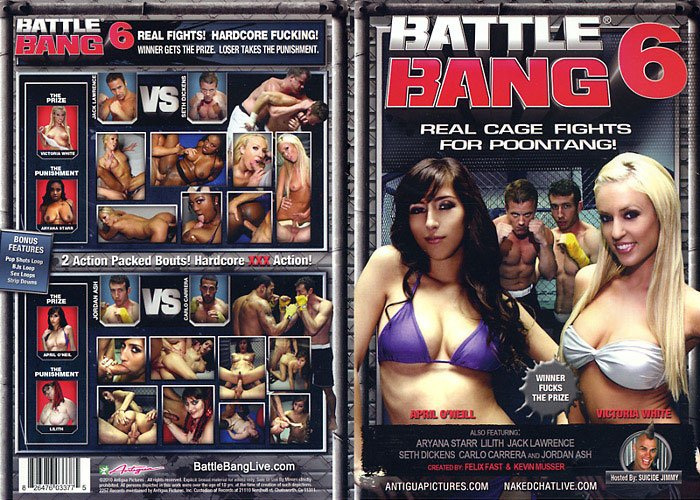 BATTLE BANG 6 (DVD XXX) ANTIGUA REAL CAGE FIGHTS FOR POONTANG APRIL ONELL