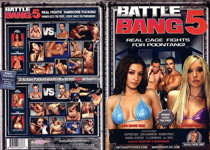 BATTLE BANG 5 (DVD XXX) ANTIGUA REAL CAGE FIGHTS FOR POONTANG ANN MARIE RIOS